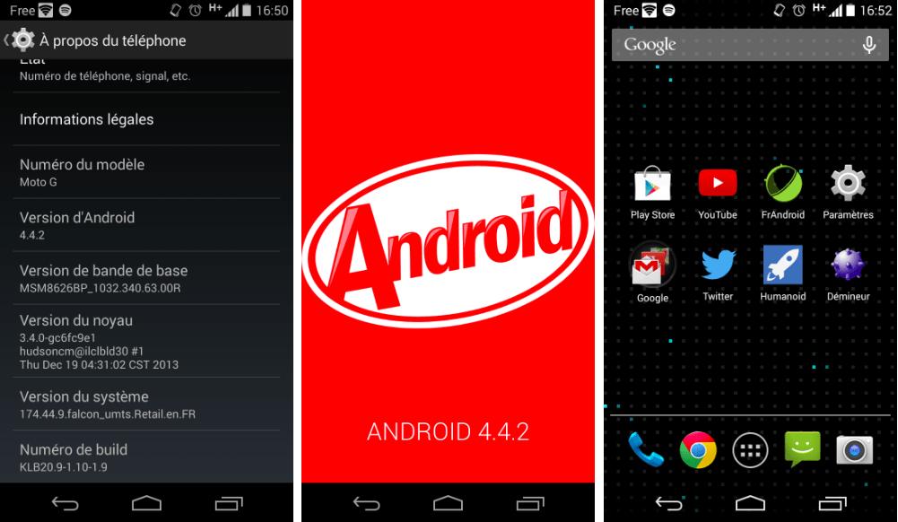Moto G : comment forcer la mise à jour d'Android 4.4.2 KitKat ?