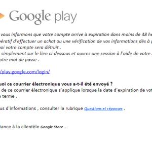 Faites attention au phishing sur Google Play !