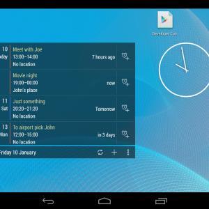 Calendrier Widget, un nouveau widget au design Holo sur Android