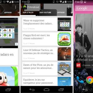 Google Play Kiosque : les vues miniatures dans les listes et un nouveau widget sur Android