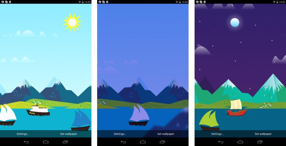 Mountains Now : un fond d'écran animé sur le thème de Google Now