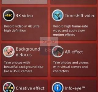 Sony Sirius D6503 : la piste de l'enregistrement vidéo en 4K se confirme