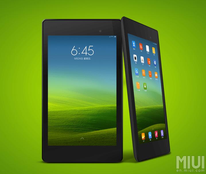 Xiaomi lance MIUI Tablet, seulement pour la Nexus 7