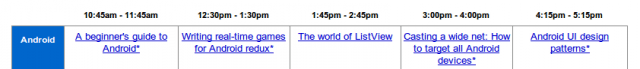 Le programme du Google I/O 2010 disponible