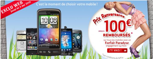 Virgin Mobile rembourse 100 euros et NRJ Mobile commercialise le LG GW620