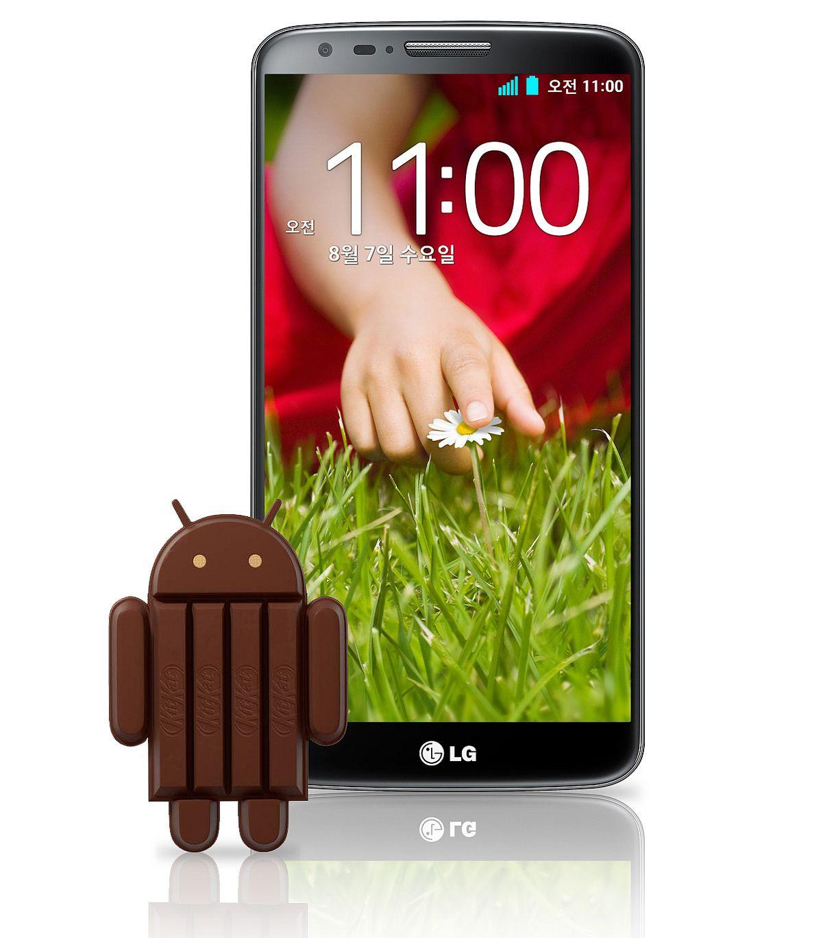 LG G2 : la mise à jour vers KitKat (Android 4.4.2) a commencé !