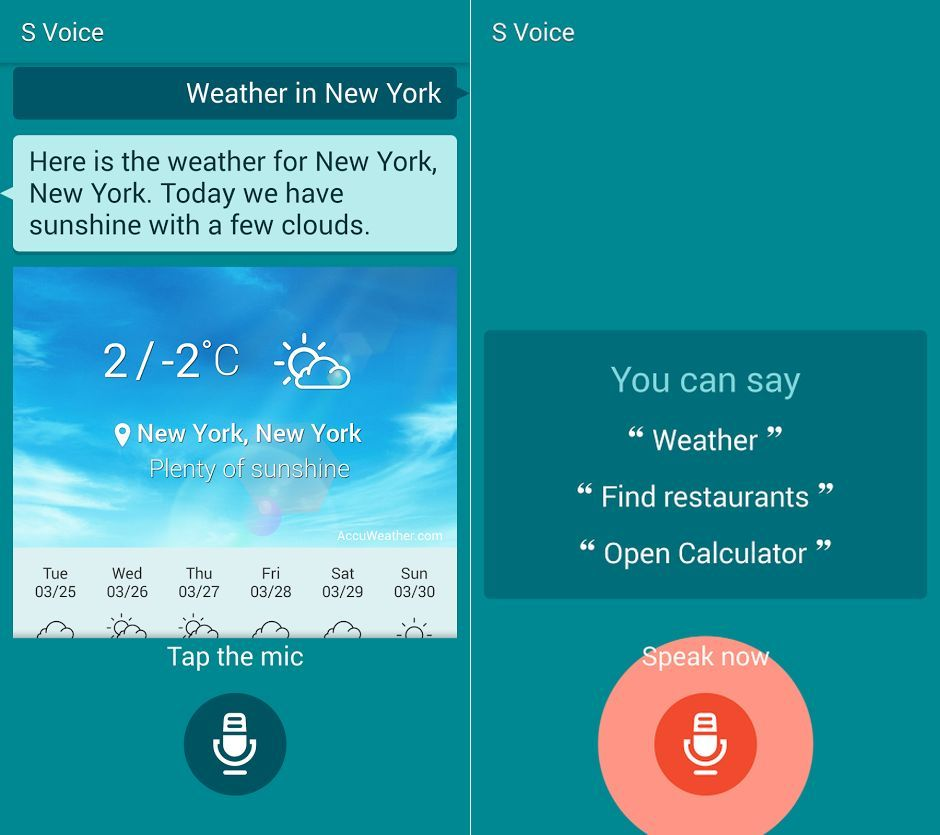 Installez l'application S Voice du Galaxy S5 (téléchargement)
