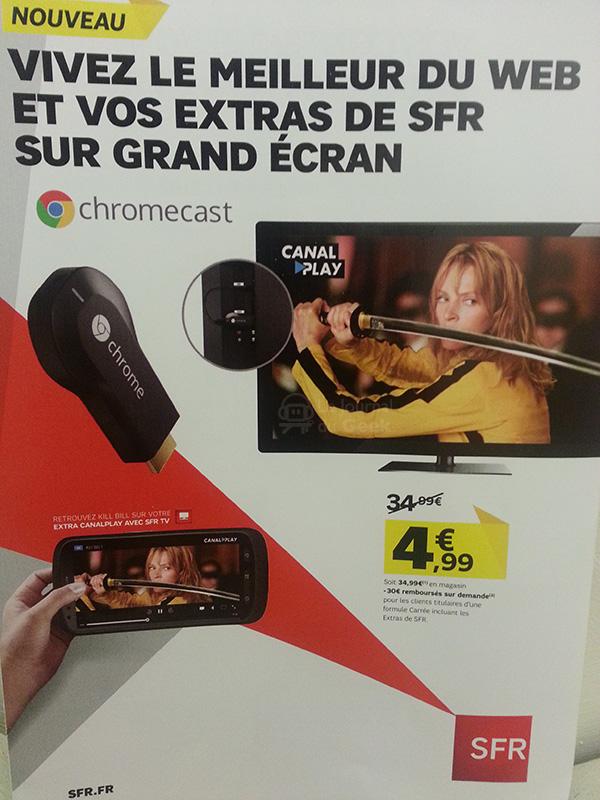 A peine en France, le ChromeCast déjà à 5 euros chez SFR