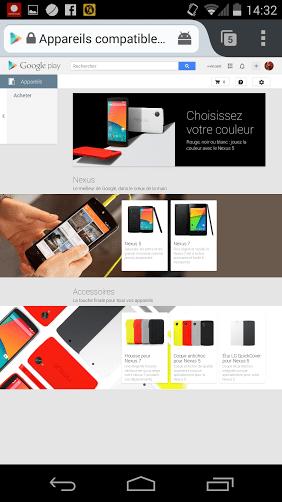 Le Nexus 5 enfin disponible sur le Play Store belge !