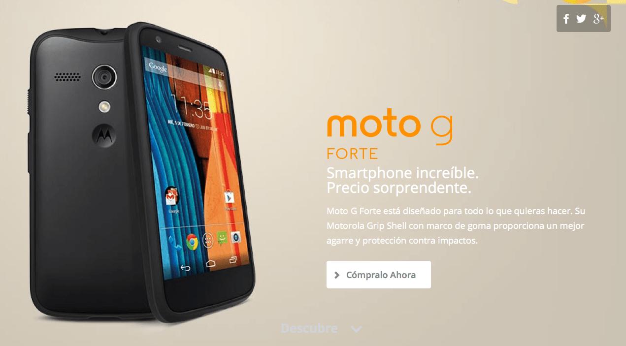 Le Moto G Forte est officiel et sans surprise