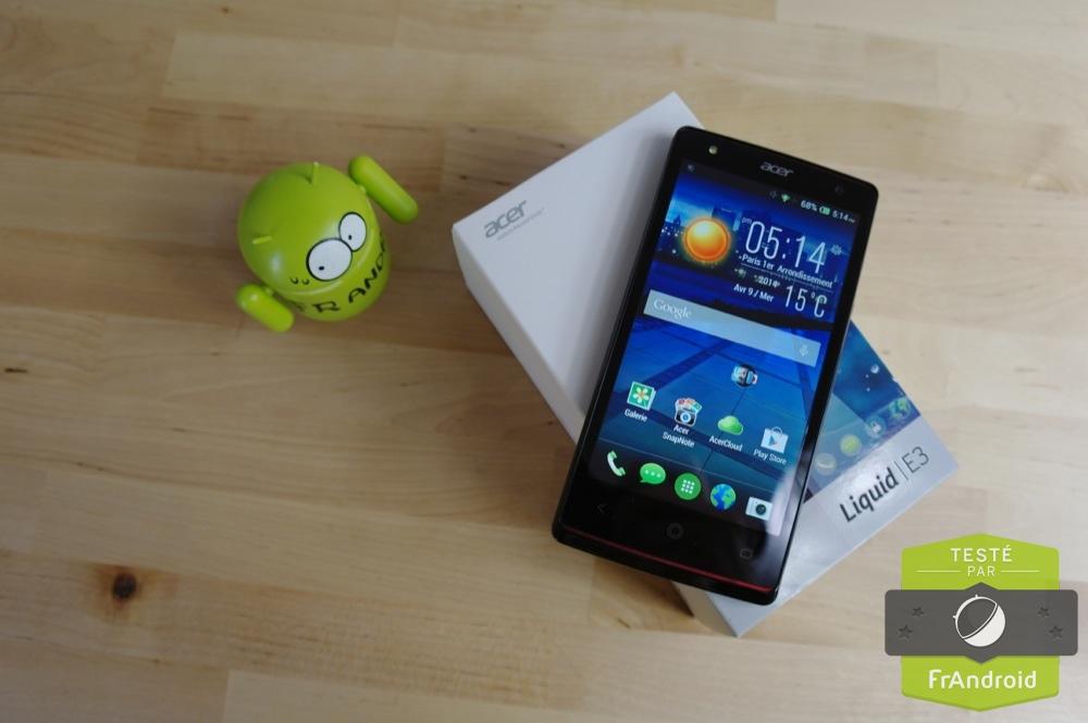 Soldes : Le smartphone Acer Liquid E3 à 127,90 euros