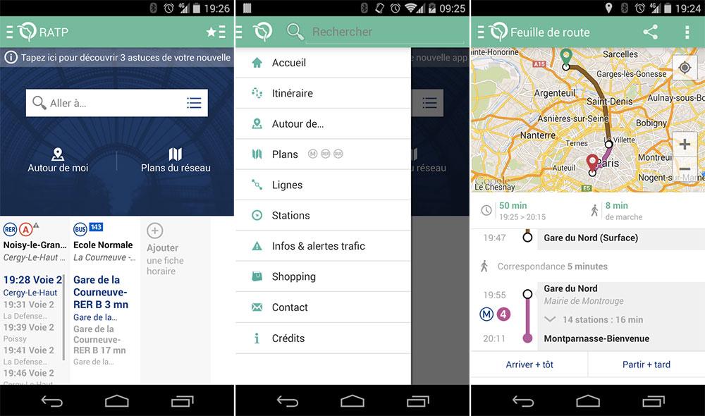 Application RATP pour Android : enfin du neuf !