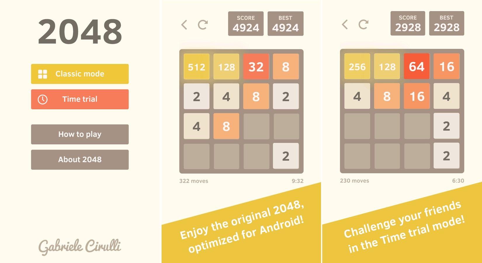 Le créateur originel de 2048 publie enfin sa propre application