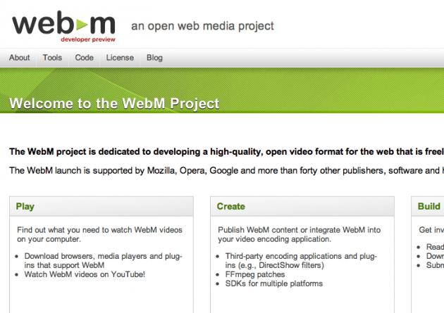 Google lance WebM, un format vidéo libre basé sur le VP8