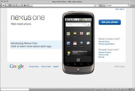 Le Nexus One de Google coûterait 530 $