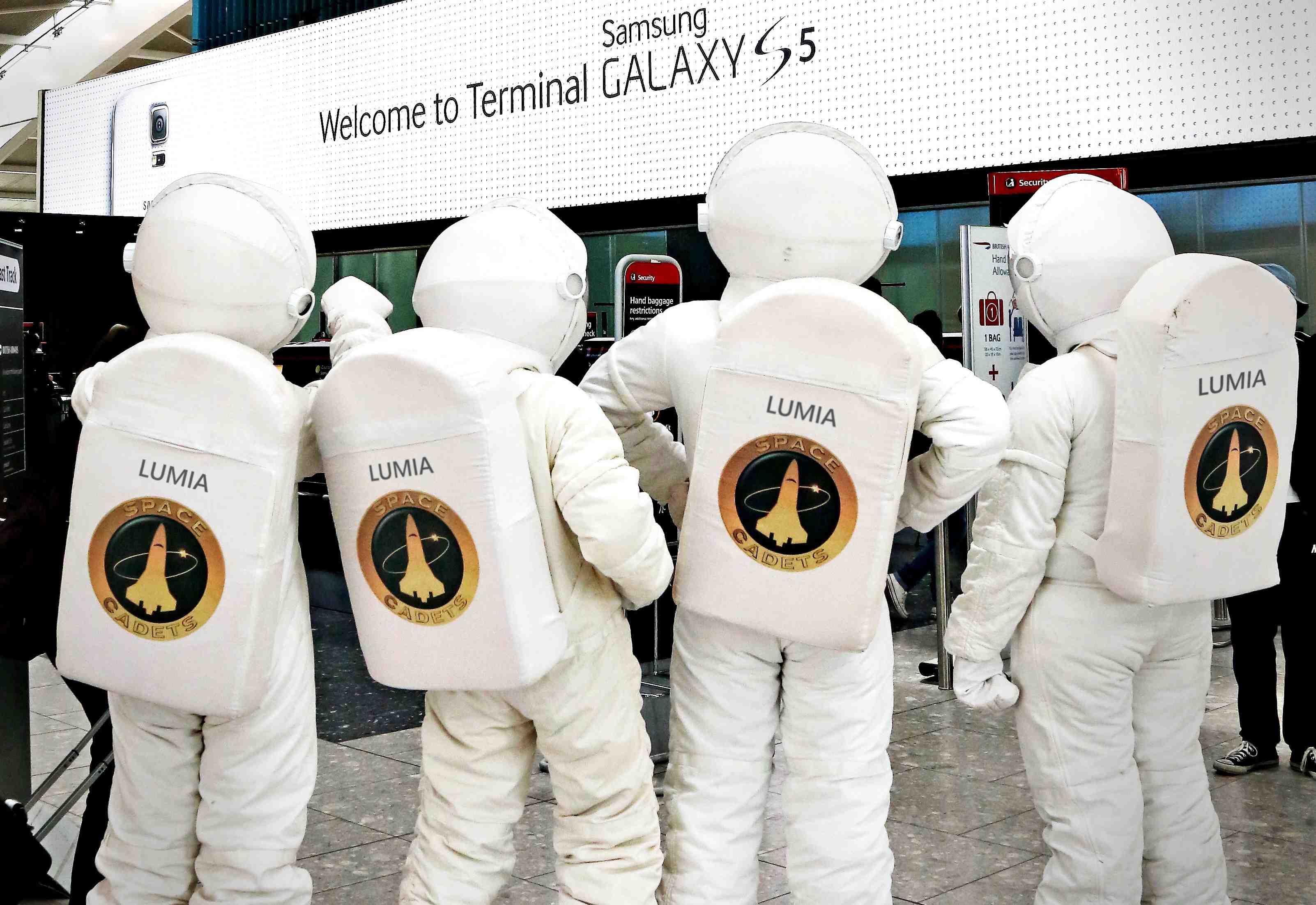 Heathrow Terminal 5 : Samsung partout, enfin presque…