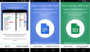 Google Drive 1.3 : Docs et Sheets sont dorénavant nécessaires à l'édition des documents