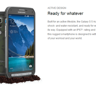 Samsung officialise son Galaxy S5 Active chez AT&T
