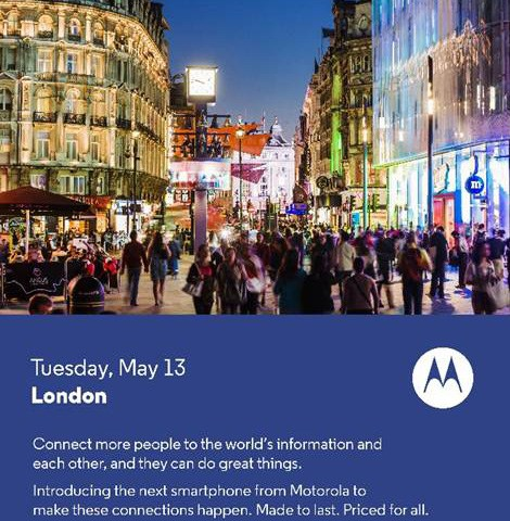 Motorola : le Moto E pourrait être officialisé le 13 mai