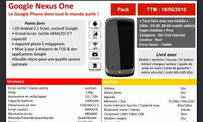 Nexus One disponible chez SFR le 18 mai ?