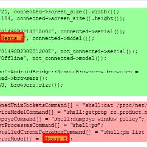 Les noms de Nexus 6 et Nexus 8 sont apparus dans le code de Chromium
