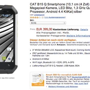 CAT B15Q : le mobile ultrarésistant est en précommande à 399 euros