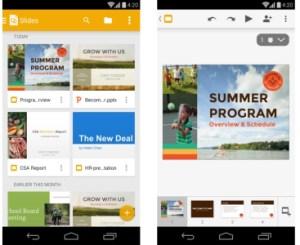 Google Slides : le PowerPoint de Google arrive sur le Play Store