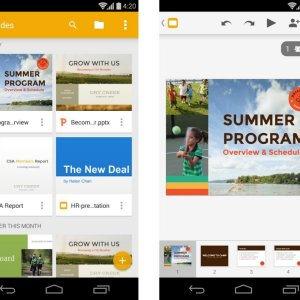 Google Slides : le PowerPoint de Google arrive sur le Play Store