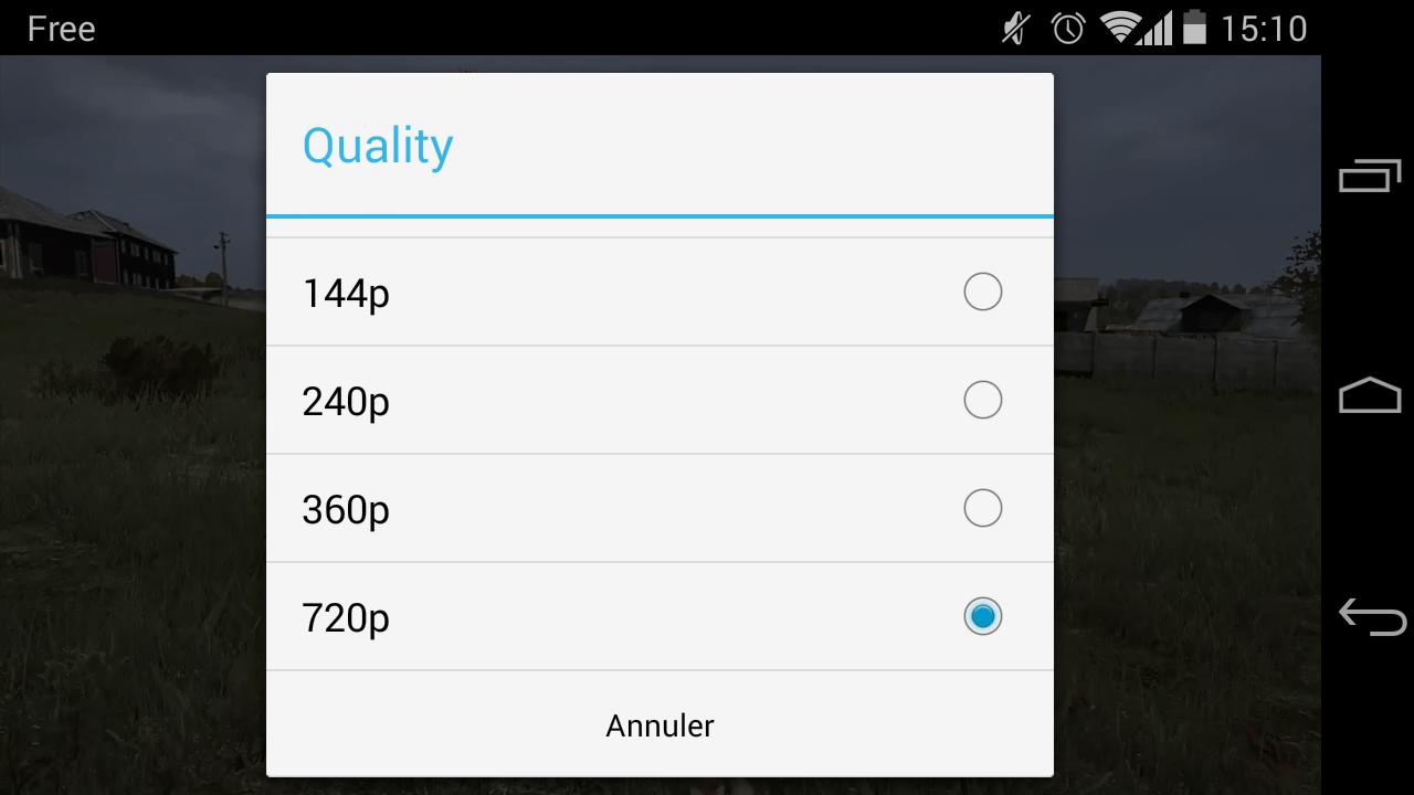 YouTube 5.7 vous permet de choisir la qualité d'affichage des vidéos sur Android