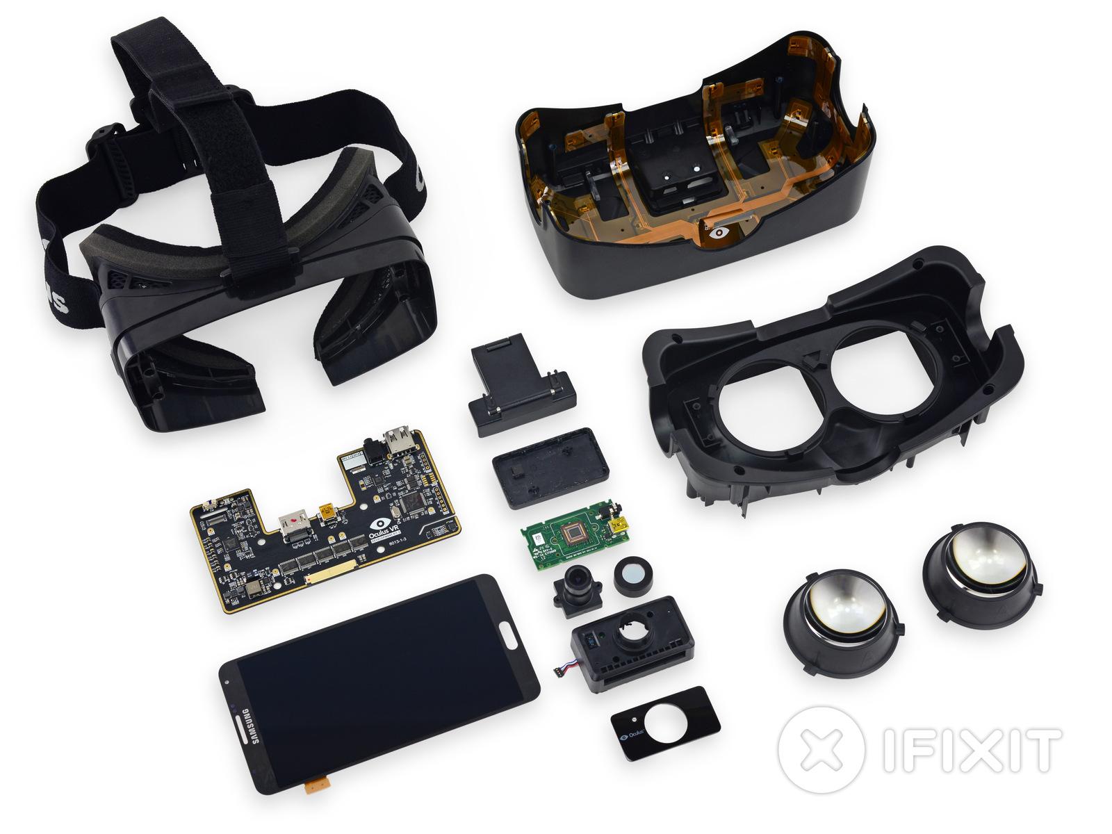 iFixit démonte l'Oculus Rift DK2 et découvre … un écran de Galaxy Note 3 !