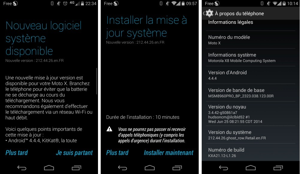 Motorola : le Moto X s'offre Android 4.4.4 en France