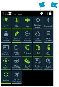 Qu'est ce que la barre de réglages rapides sur Android ?