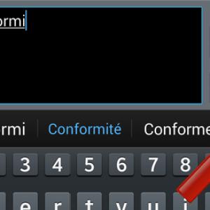 Qu'est-ce que le texte intuitif sur Android ?