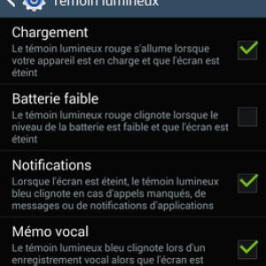 Comment régler le témoin lumineux (LED de notifications) sur Android ?