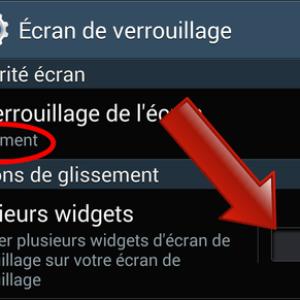 Comment placer des widgets sur l'écran de verrouillage ?