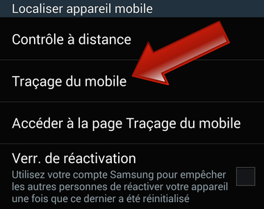 Contrôler le changement de carte SIM du téléphone (Samsung Galaxy)