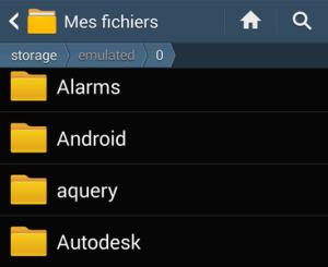 Aperçu des principaux dossiers sur Android
