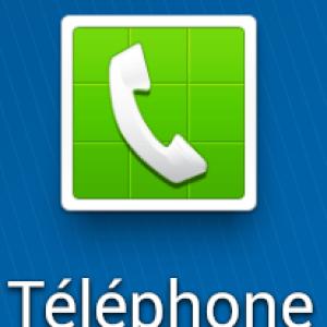 Aperçu de l'application Téléphone sur Android