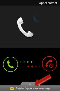 Comment rejeter un appel sur Android