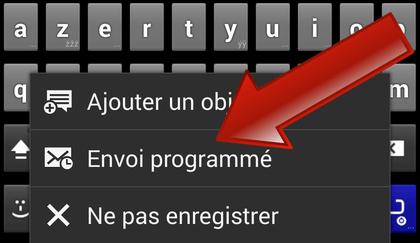 Comment programmer l'envoi d'un message (SMS/MMS) sur Android (Samsung Galaxy) ?