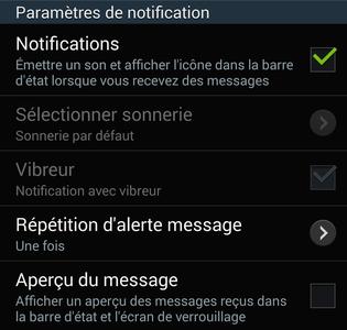 Comment activer et modifier la notification d'un SMS/MMS sur Android ?