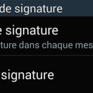 Comment insérer une signature automatique sur Android ?