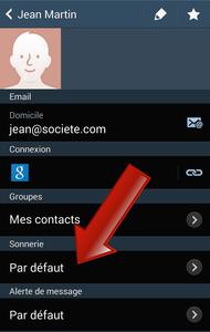 Comment modifier la sonnerie d'un contact sur Android ?