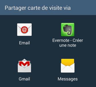 Comment partager un contact sur Android ?
