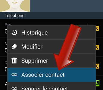 Comment fusionner (associer) deux contacts sur Android ?