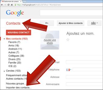 Comment importer les contacts depuis un fichier CSV ou vCard sur Android ?