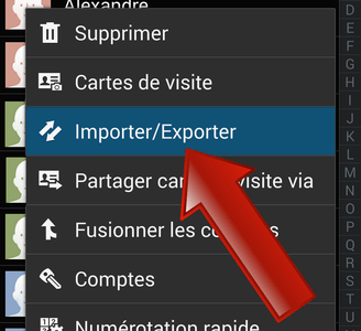 Comment exporter le carnet d'adresses Google sur Android ?