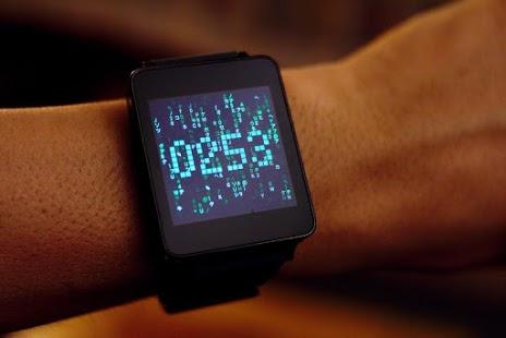 Matrix face : le «Falling Code» de Matrix dans une horloge animée pour Android Wear