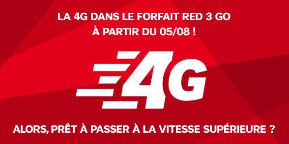 SFR va très bientôt intégrer la 4G au forfait RED 3 Go