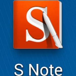 Aperçu de l'application S Note sur Samsung Galaxy Note